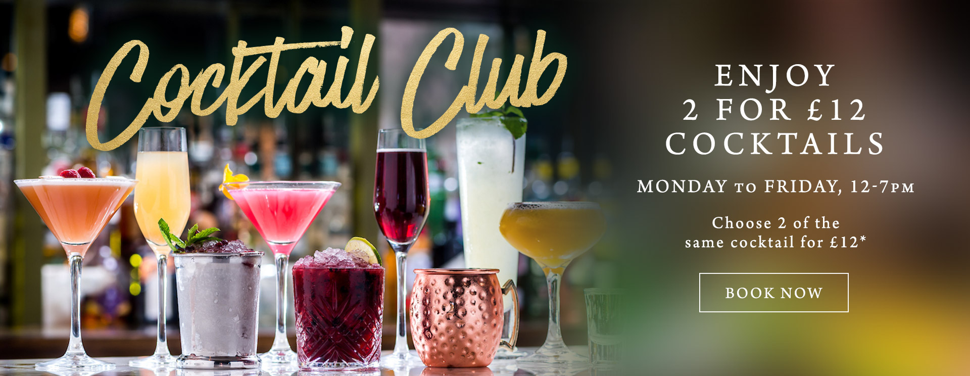 2 for £12 cocktails at The St George & Dragon